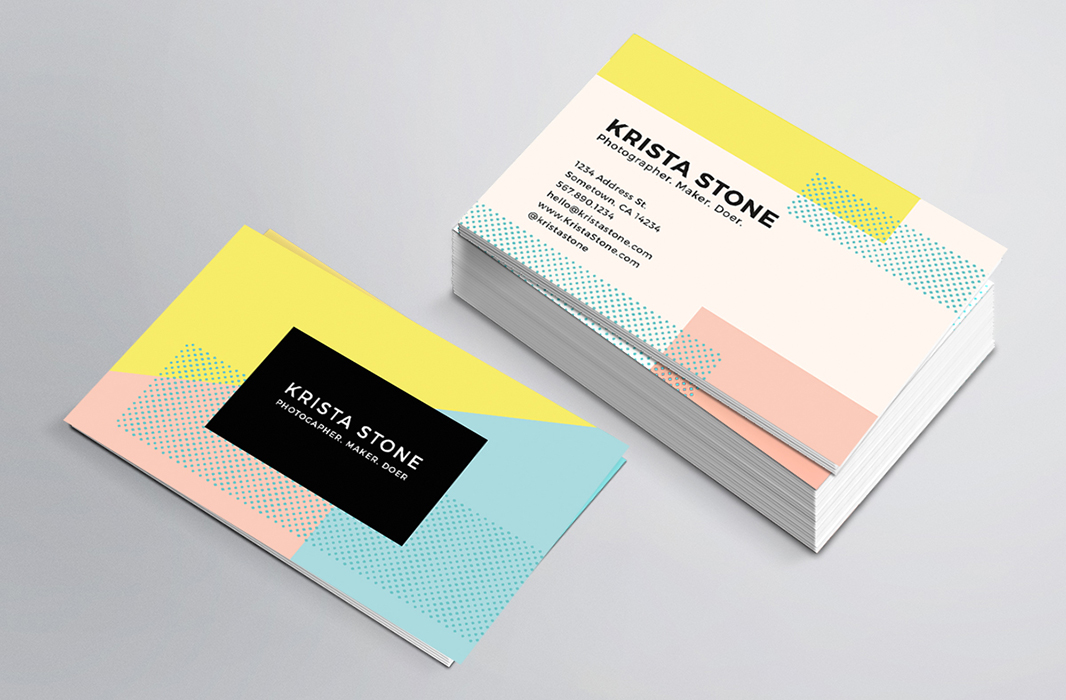 Business Cards for Fun and Playful Personal Brands ShiftFWD